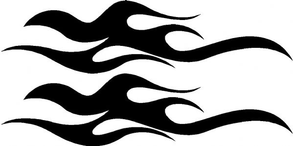 Vehicle Graphic Decal FLAME Design 8